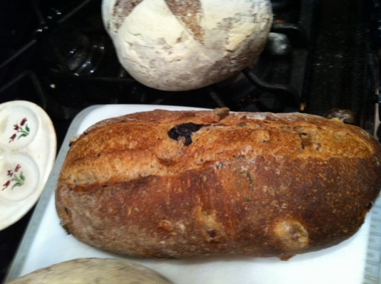 Olive and rosemary, yum. I have the recipe but never tried the bread. Now if we love it, I can try it myself, albeit without the steam injected ovens.