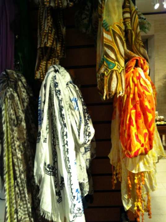 Scarves I didn't buy, but admired.
